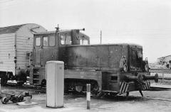 Lok 5, auf dem Gelände der Industriebahn Gotha Ost, 09.04.1977, (C) P. Kalbe
