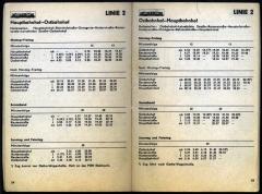 Der Fahrplan der Linie 2 für 1987/88. In den Abendstunden sah die Realität etwas anders aus.