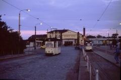 Entgegen den Angaben im Fahrplan gab es abends Pendelverkehr zwischen Huttenstraße und Ostbahnhof. Dafür kam ein Zweirichtungs-Zweiachser