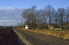 Am 06.01.1988 kam Tw 39 als Dienstfahrt am Ortsrand von Sundhausen des Wegs.