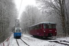 Tw 39 und EBS 772 345 zwischen Reinhardsbrunn und Schnepfenthal, 25.01.2014, (2), (C) Quaß
